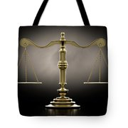 Scales Of Justice Dramatic Tote Bag
