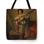 Soldier Playing The Theorbo  Tote Bag