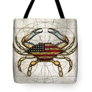 4th Of July Crab Tote Bag