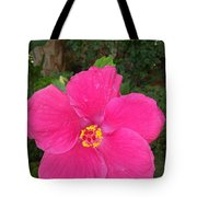 Bright Pink Hibiscus Tote Bag