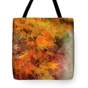 Digital Watercolor Painting Of Beautiful Colorful Vibrant Red An Tote Bag
