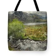 Digital Watercolor Painting Of Stunning Landscape Image Of Count Tote Bag
