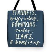 Flannels Hayrides And Pumpkins Fall Tshirt Tote Bag