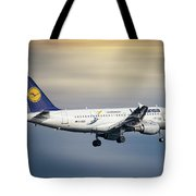 Lufthansa Airbus A319-114 Tote Bag
