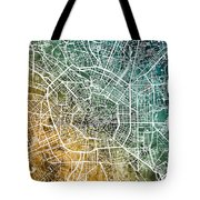 Milan Italy City Map Tote Bag