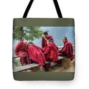 5 Monks On A Break Tote Bag
