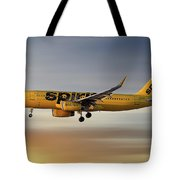 Spirit Airlines Airbus A320-232 Tote Bag