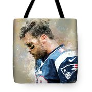 Tom Brady.new England Patriots. Tote Bag