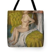 Woman Having Her Hair Combed  Tote Bag
