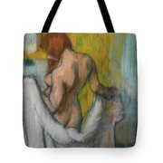 Woman With A Towel  Tote Bag