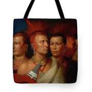 Young Omahaw, War Eagle, Little Missouri, And Pawnees Tote Bag