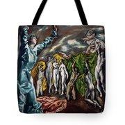 The Vision Of Saint John  Tote Bag