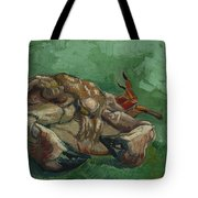 A Crab On Its Back  Tote Bag