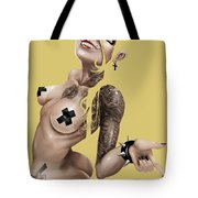 7 Day Psychos Part 7 - Julie Tote Bag by Pete Tapang