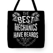Funny Mechanic Beard Facial Hair Apparel Tote Bag