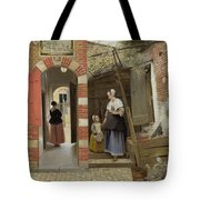 The Courtyard Of A House In Delft  Tote Bag