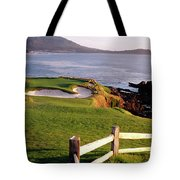 7th Hole At Pebble Beach Golf Links Tote Bag