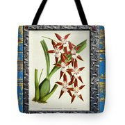 Orchid Framed On Weathered Plank And Rusty Metal Tote Bag