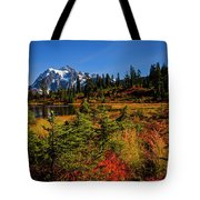 Autumn Colors With Mount Shuksan Tote Bag