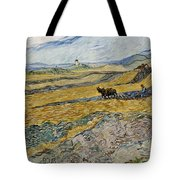 Enclosed Field With Ploughman -  Tote Bag
