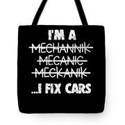 Funny Mechanic Car Auto Apparel Tote Bag