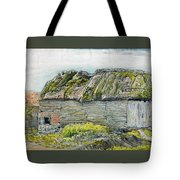 A Barn With A Mossy Roof, Shoreham - Digital Remastered Edition Tote Bag