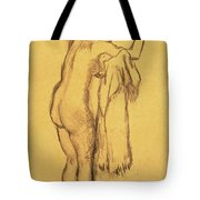A Bather Drying Herself By E Degas Tote Bag