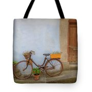 A Bicycle At Number 10 Tote Bag
