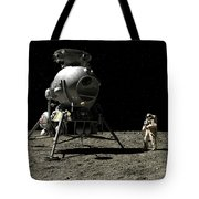 A Cosmonaut On The Moon Tote Bag