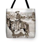 A Cowboy On Horseback, Photo, 19th Century Tote Bag