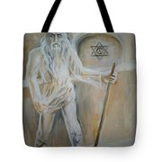 A Dacian Priest At The Sinca Veche Temple Tote Bag