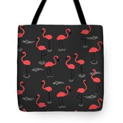 A Flamboyance Of Flamingos  Tote Bag