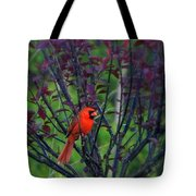 A Flash Of Red Tote Bag
