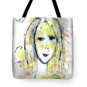 A Girl By The Artist Catalina Lira Tote Bag