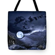 A Haunted Mountain Pass Tote Bag