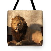 A Lion Among Drums Tote Bag