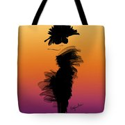 A Little Black Dress In The Sunset Tote Bag