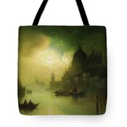 A Moonlit Night Over Venice Tote Bag