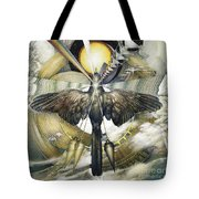 A Painting Alludes To Powers That Might Enable Birds To Migrate. Tote Bag