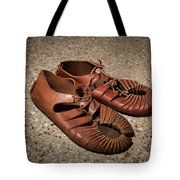 A Pair Of Roman Sandals Made Of Leather Tote Bag