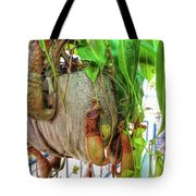 A Pitcher Plant On Our Terrace In Thailand Tote Bag by Jeremy Holton