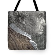 A Portrait Of Immanuel Or Emmanuel Kant Tote Bag