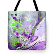 A  Purple Love Story Tote Bag