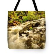A River Turns Tote Bag