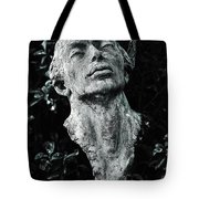 A Stone Bust In The Forest Tote Bag