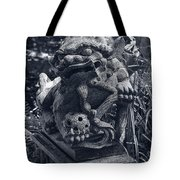 A Stone Gargoyle In The Woods Tote Bag