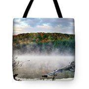 Sunrise Fog Landscape Tote Bag