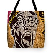 A Terrified Face On A Barcelona Wall  Tote Bag