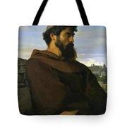 A Thinker A Young Roman Monk Tote Bag