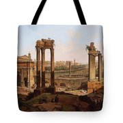 A View Of The Forum Romanum Tote Bag